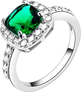 مجموعة Empression Cushion Halo Cube Zirconia CZ خاتم الخطوبة حفل الزفاف بيان كوكتيل الأزياء الكلاسيكية مقاس 4-12