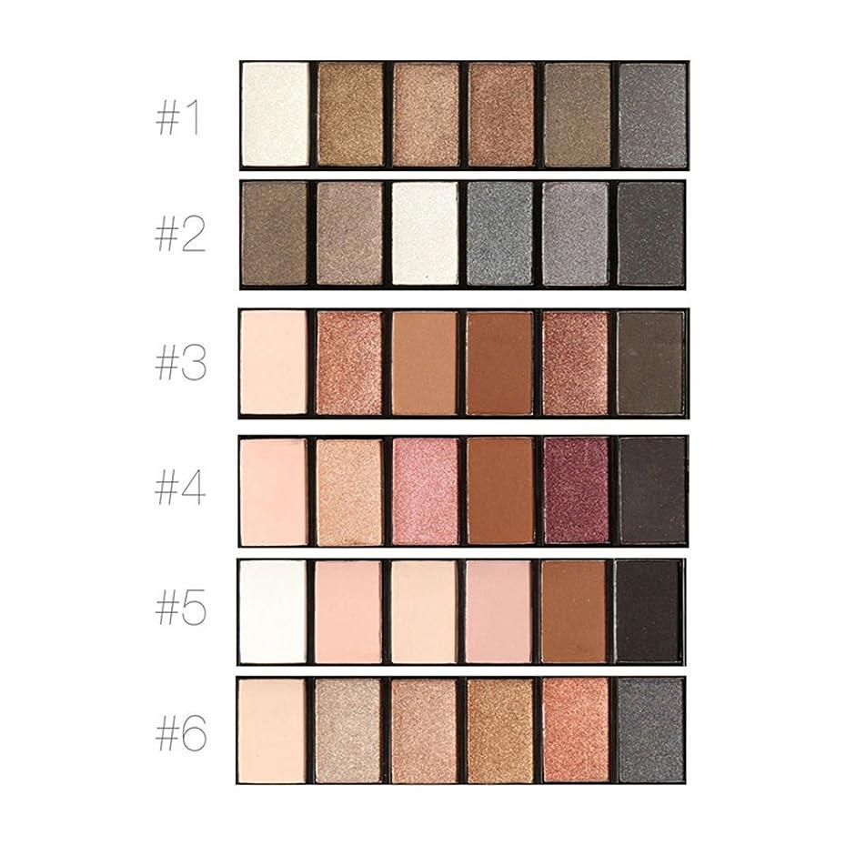 万一に備えてハーフ天窓アイシャドーパレット、6色化粧シメラーマットメイクロングラスティングスモーキーアイ化粧品セット(#2)