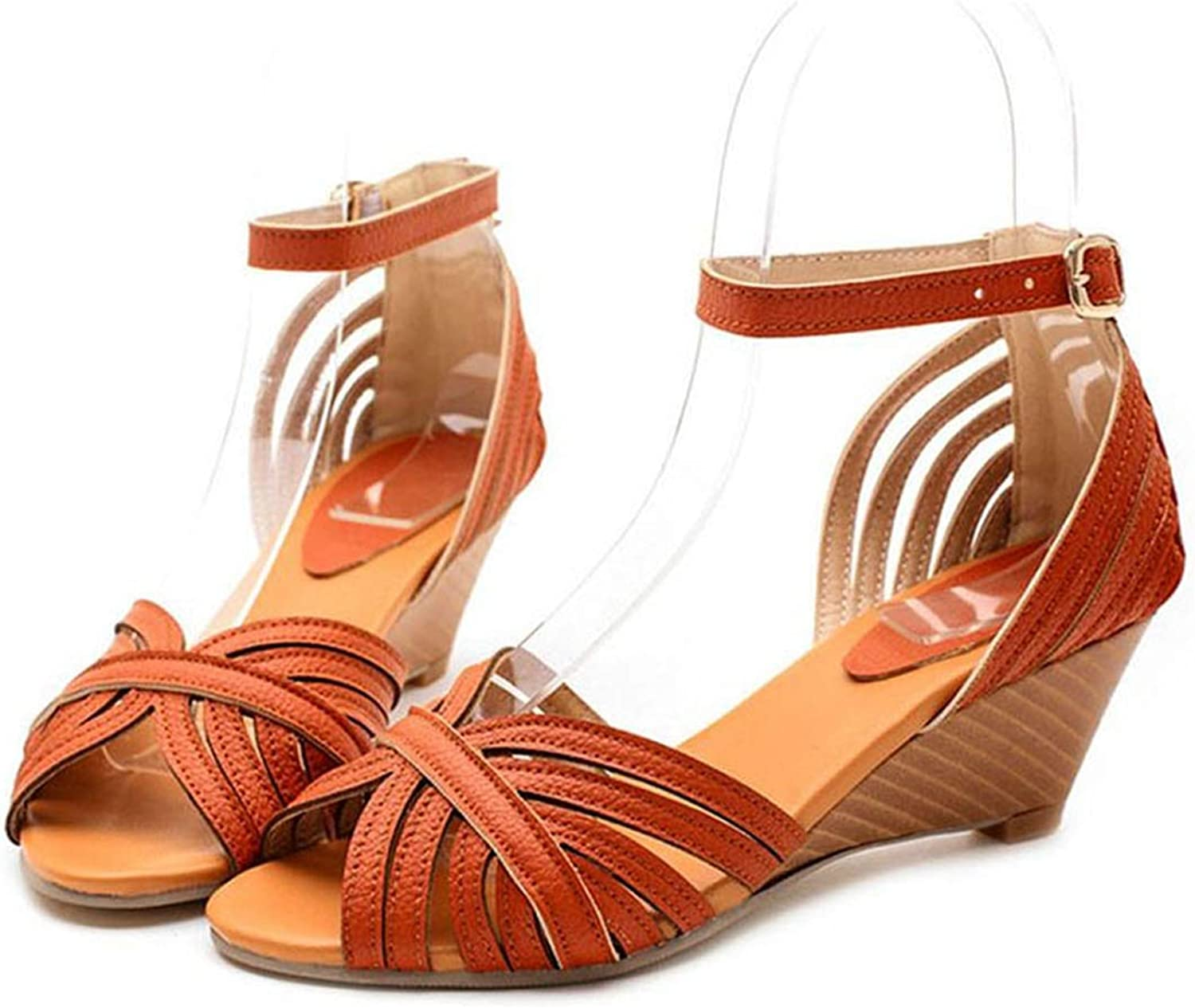 Women's Sandals Summer Bohemia Gladiator Sandals Wedege shoes Women Ankle Strap Cut-Outs