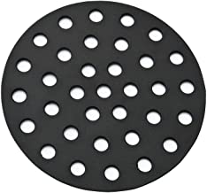 onlyfire Barbecue Cast Iron High Heat Charcoal Fire Grate Fits for Large/Minimax Big Green Egg Grill, 9-inch