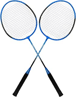 Guru Track BS05 Pack of Two Racket Badminton Set, Size 27 Inch With Cover (Sky Blue)