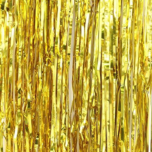 Easy Joy Dorado Photocall, Decoracion Chic en Casa Habitación Universidad Centelleante Curtain para Fiesta,...