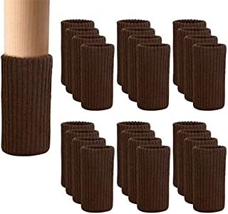 24 PCS Chair Leg Socks Knitted Elastic Furniture Leg...