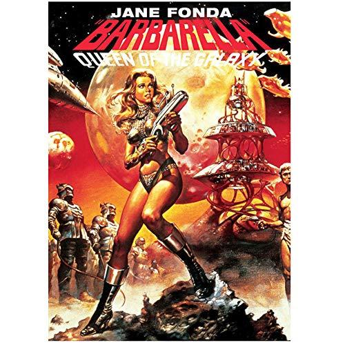 DOAQTE Barbarella Movie Wandplakat Leinwand Wandkunst Bilder Poster Drucke auf Leinwand für Raumdekor Malerei -50X75cm Kein Rahmen 1 Stck
