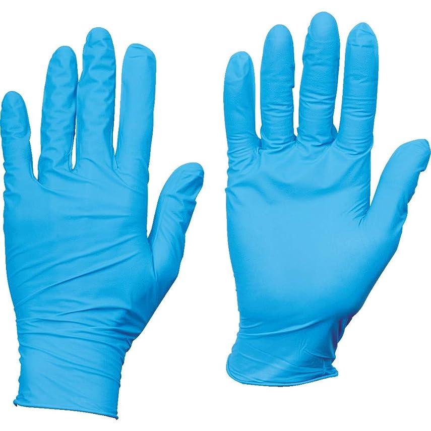ハリウッド小包悪因子TRUSCO(トラスコ) 10箱入り使い捨てニトリル手袋TGスタンダード0.08粉無青M TGNN08BM10C