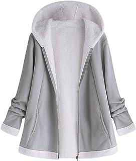 319ac07665adb Sunmoot Hoodie Coat for Womens Plus Size Winter Warm Long Sleeve Pocket  Oversize Parka Jacket(