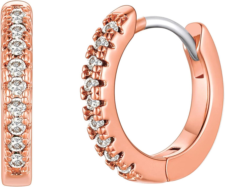 Small Hoop Purchase Earrings for Women Popular 18k Ears Sensitive Platinum Girls