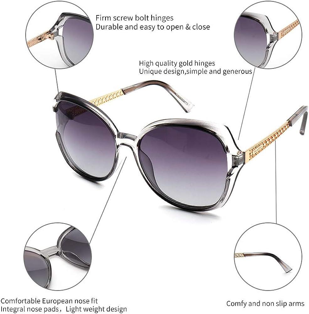 Sangras Fashion Vintage Round Polarized Sunglasses Prevent dizziness UV400 Lens Protection Shades