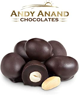Andy Anand Dark Chocolate Peanuts Sugar Free Gift Boxed & Greeting Card, Delicious, Succulent & Divine Birthday Valentine Christmas Holiday Mothers Fathers Day Basket for Men & Women (1Lbs)
