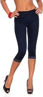 Femme Imprimé 3//4 Leggings Longueur Extensibles Taille Pantalon Skinny 8-22