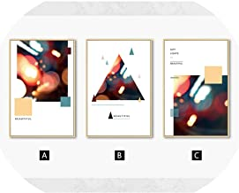Modern Abstract Geometry Canvas Painting City Lights Wall Art Posters and Prints..