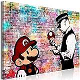 decomonkey Bilder Mario and Cop Banksy 120x80 cm 1 Teilig