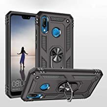 Phone Case for Huawei p20 Lite Case with Ring Holder Stand Women Men Thin Friendly Grip Heavy Duty Armor Curved Silicone C...