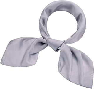 fb64f6a732fff Satinior Chiffon Scarf Square Handkerchief Satin Ribbon Scarf Neck Scarf  for Women Girls Ladies Favor