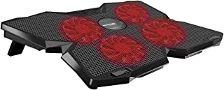 Promate Gaming Laptop Cooling Pad, Ergonomic High-Speed with 4 Silent Cooling Fan, Adjustable Height, LED Speed Display, C...