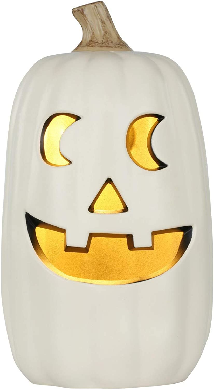 Halloween Lit Pumpkin orange 16  - Hyde and Eek  Boutique (WHITE)ASSORTED FACES