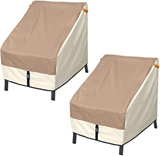Porch Shield Patio Chair Cover - Outdoor Single Armchair Cover 34W x 37D x 36H, Set of 2