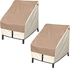 Porch Shield Patio Chair Cover - Outdoor Single Armchair Cover 30W x 33D x 34H, Set of 2