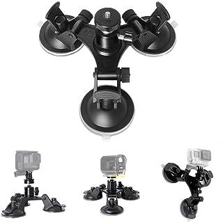 Bestmaple スーパー 3点吸盤式 カメラ用サクションマウント DSLR カメラ アクションカム カムコーダー カーマウント ウォールマウントエバレント ガラスマウント ウィンドウマウント 車 サポートホルダー GoPro用吸盤式マウント...
