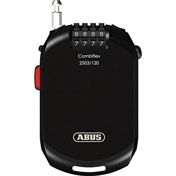 ABUS(アブス)ダイヤルロック CombiFlex 2503/120 ブラック 2.5mm/120cm 1646000011