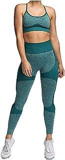 Women Solid High Waist Yoga Suit, Ladies Seamless Sleeveless Sport Bra Tight Hip Sport Bra Tops + Long Pant