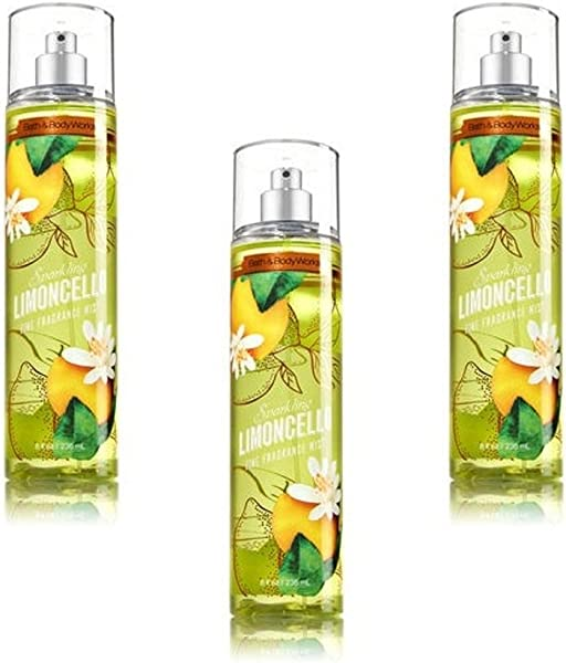 Bath Body Works Sparkling Limoncello Fine Fragrance Mist Pack Of 3