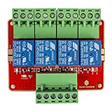 SUNFOUNDER 4-Channel DC5V Relay Module with Optocoupler High Level Trigger Expansion Board for Arduino and Raspberry Pi DSP AVR PIC Arm