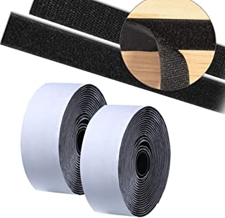 PH PandaHall 82 Feet Self Adhesive Hook and Loop Tape Roll Sticky Back Strip Adhesive Backed Fabric Fastener Mounting Tape for Picture and Tools Hanging Pedal Board Fastening 4//5 Inch, White