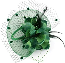 BHJTR Cocktail Wedding Hats Women Headwear with Veil for Girls Hat Flower Feather Mesh Veil 12 Colors