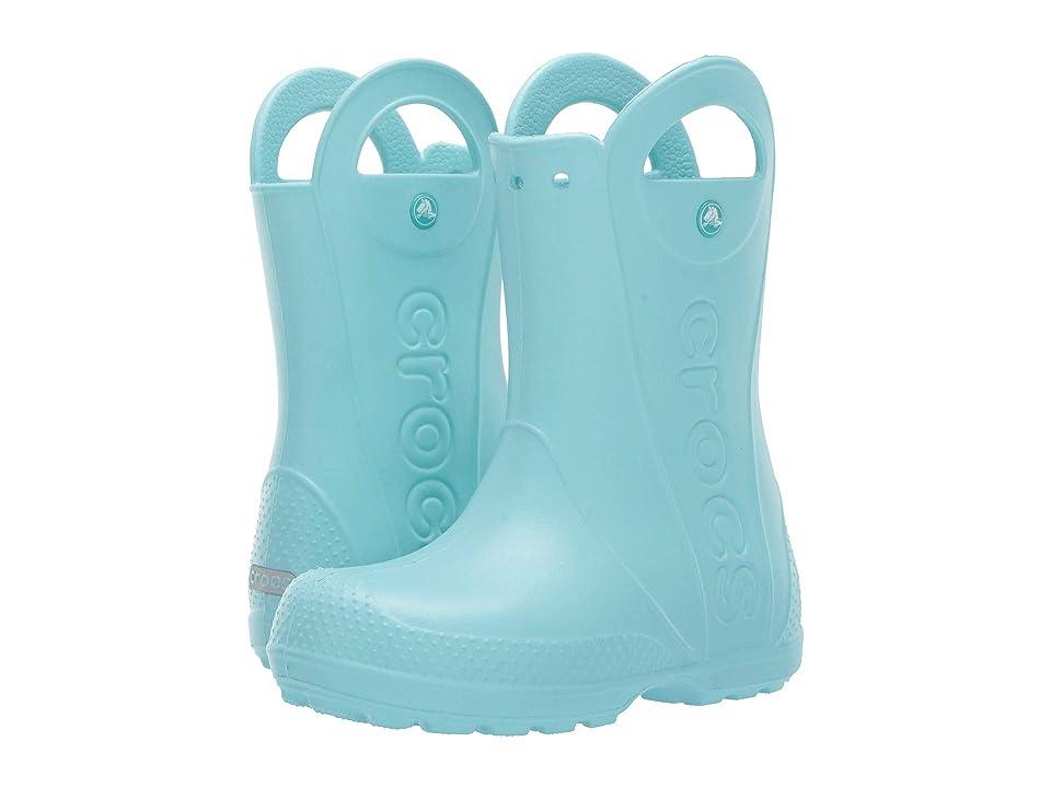 Crocs Kids Handle It Rain Boot (Toddler/Little Kid) (Ice Blue) Kids Shoes