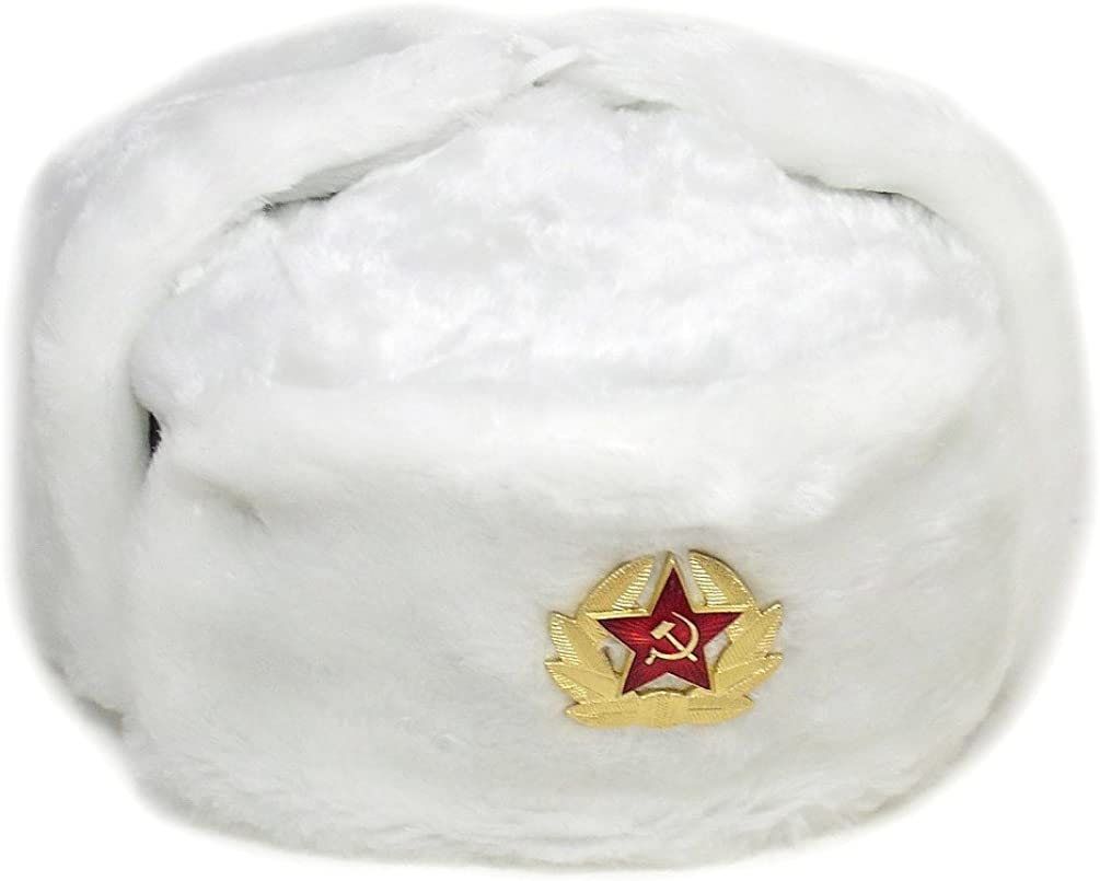 Hat Russian Soviet Army Special Winter Fur Military Ushanka WH Size L