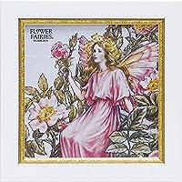 ユーパワー アートフレーム/植物・花 ワイルドローズフェアリー W19xH19cm