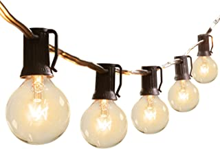 Brightown Outdoor Patio String Lights-100Ft G40 Backyard Lights with 104 5W Edison Clear Bulbs(4 Spare), UL listed Waterpr...