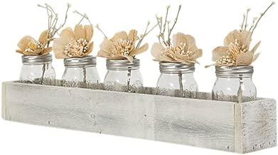 Drakestone Designs Wood Tray Centerpiece Box 24 Inch   Handmade Rustic Reclaimed Wood - Whitewash