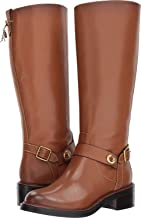 Coach Womens Sutton Leather Round Toe Mid-Calf Boots