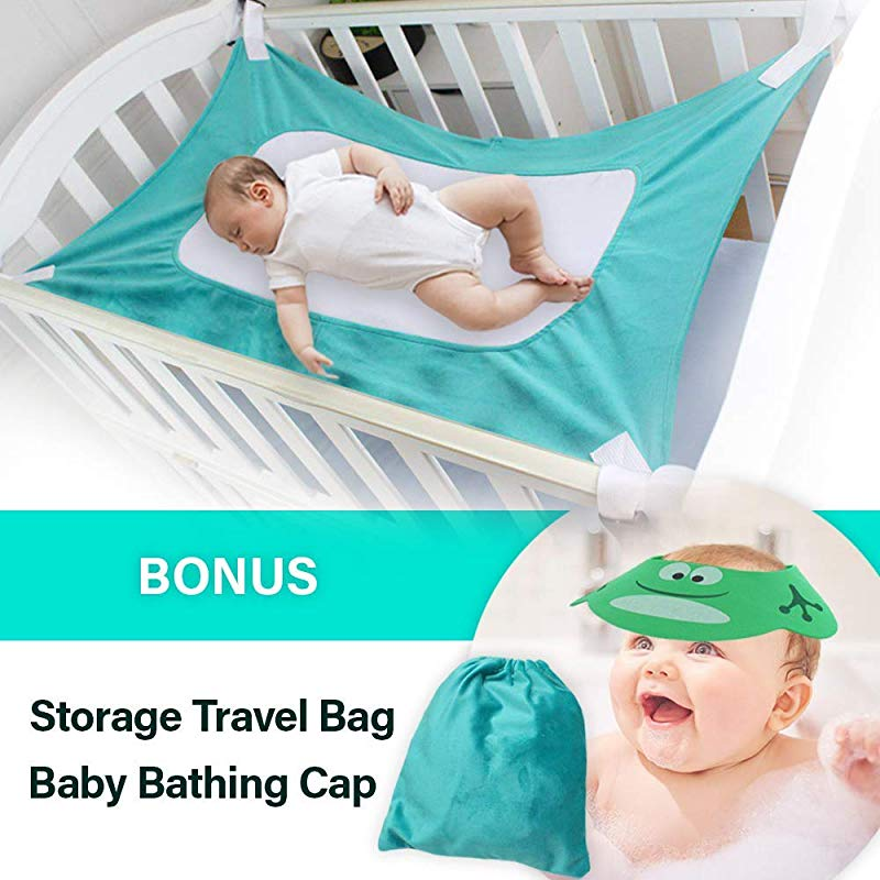Upgraded Baby Hammock For Crib Safe Comfortable Healthy Sleep For Newborn Essentials Bassinet Breathable Mimics Womb Cradle For Boys Girls Travel Portable Mesh Nursery Nap Reduce Risks Infant Bed