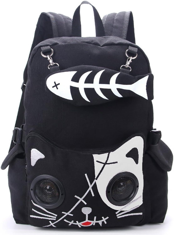 HECHEN Mode-Sport-Rucksack, Multifunktions-Blautooth-Canvas-Tasche Rucksack, Damen-Rucksack