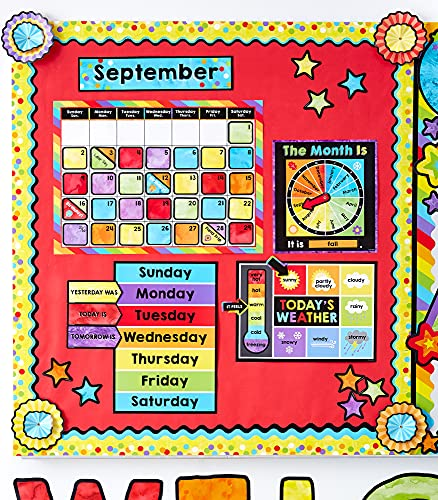 Celebrate Learning Calendar Bulletin Board Set—Colorful Calendar, Monthly Headers, Days of the Week, Seasons, Birthdays, Special Occasions, Weather Chart (86 pc) Photo #6