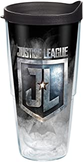 Tervis 1280881 Justice League Icons Tumbler with Wrap and Black Lid 24oz, Clear