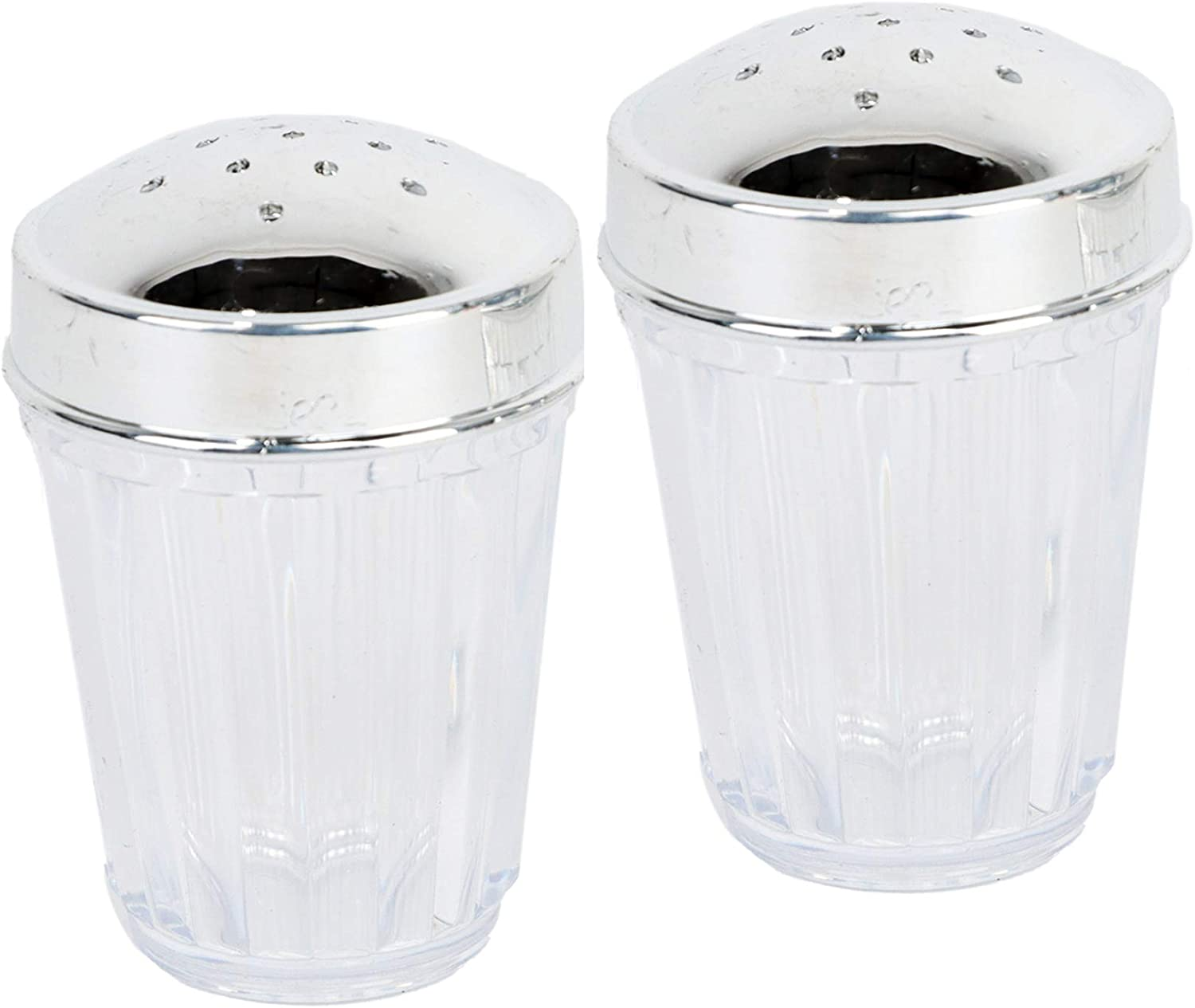 Clear Plastic Salt and Max 58% OFF Pepper Lid In a popularity Set Shaker Plated