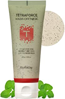 [EC ELISHACOY] TETRAFORCE Wash Off Mask 100g - Tea Tree & Centella Asiatica Contained Skin Calming Wash off Kaolin Clay Sc...