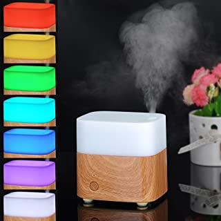 Efrank 120ml Wooden Base Oil Aroma Diffuser - Eco-friendly 7 Colors Changing Lights Ultrasonic Essential Oil Purifier Air ...