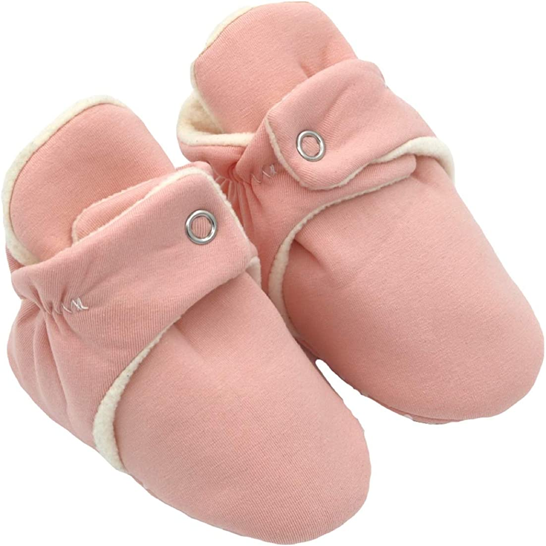 Babalus Booties - 100% Soft Cotton Shoes for Infants, Babies, Toddlers, With Gripper Soles, First Shoes, Stay-on Socks