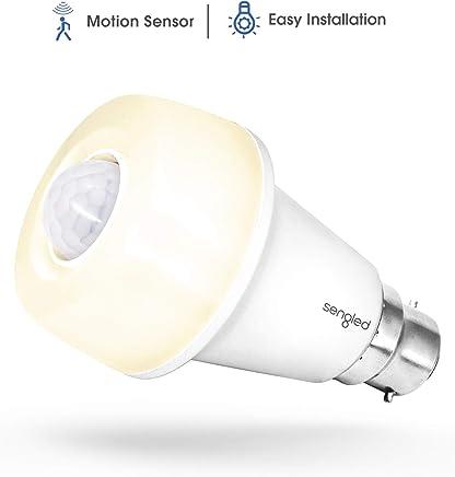 Sengled SSA60ND827B Smartsense LED Bulb, Motion Sensor Light Bulb, Sensor Detector Mode/Always-On Mode, Omnidirectional, 9.5 Watts, 2700 Kelvins, 800 Lumens, B22 Base, Soft White, A60 (1 Pack)