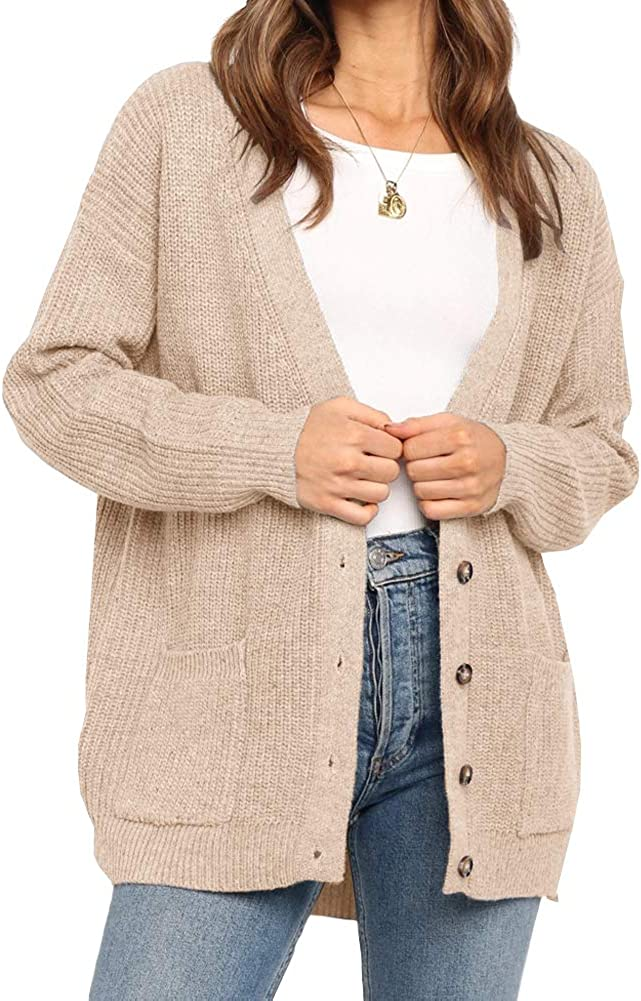Hsdjfhe Women's Button Down Open Sweaters Oversiz Front Our shop most popular Cardigan Max 63% OFF