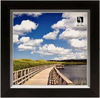 BorderTrends Legacy 6x6-Inch Photo Frame, Black