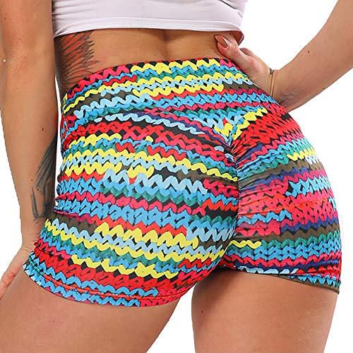 STARBILD Shorts Pantalones Deportes Cortos de Fitness Mallas para Mujer Elástico de...