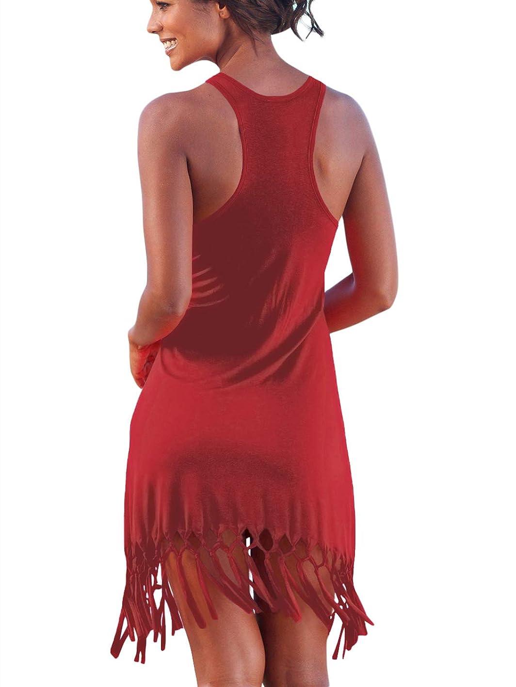BINLIANG Women Sexy Casual Racerback Summer Flowy Dress S-XL dcpbptymmjb810