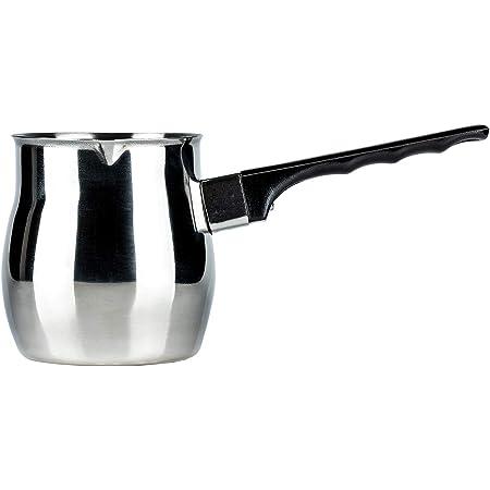 ROSMARINO Cafeti/ère Turque Induction en Acier Inoxydable 700 ml les Plaques de Cuisson /à Gaz et les Lave-vaisselle lElectricit/é Convient pour lInduction la Vitroc/éramique