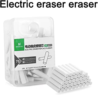 Electric Eraser Replacement Refill 1 Boxed, 2.3mm 40 PCS-5mm 30 PCS Rubber Refills,Suitable for Most Electric erasers on The Market